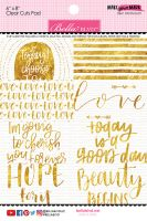 Bella Blvd Make Your Mark - 6x8 Clear Cuts Pad Gold Foil