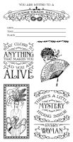 Graphic 45 Midnight Masquerade Cling Stamp 2