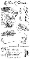 Graphic 45 Mon Amour Cling Stamp Set 1