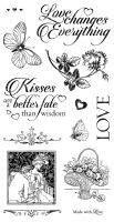 Graphic 45 Mon Amour Cling Stamp Set 3