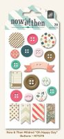 My Minds Eye Now & Then - Mildred - Oh Happy Day Decorative Buttons