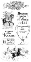 Graphic 45 Cling Stamp Set Off to the Races 2