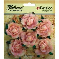 Petaloo Textured Elements Canvas Garden Rosettes - Pink