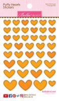 Bella Blvd Puffy Hearts Stickers - Orange Mix