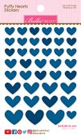 Bella Blvd Puffy Hearts Stickers - Blueberry Mix