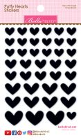 Bella Blvd Puffy Hearts Stickers - Orea Black
