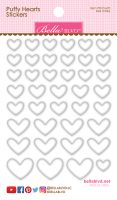 Bella Blvd Puffy Hearts Stickers - Milk White