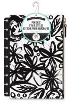 Me & My Big Ideas Create 365 The Happy Planner Bold Black Flowers with Black Snap In Pouch