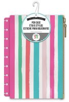 Me & My Big Ideas Create 365 The Happy Planner Painted Multi Stripe with Pink Snap In Pouch