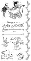 Graphic 45 Precious Memories 2 Cling Stamp Set