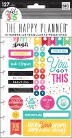 Me & My Big Ideas Create 365 The Happy Planner Snap In Stickers - Happy Brights