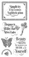 Graphic 45 Portrait of a Lady Cling Stamp 1