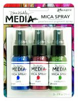 Ranger Dina Wakley Media Mica Sprays (Includes Ruby, Lapis & Evergreen)