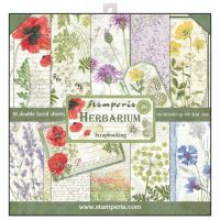 Stamperia 12x12 Paper Pad - Herbarium (10 Double Sided Sheets)