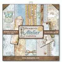 Stamperia 12x12 Paper Pad - Atelier (10 Double Sided Sheets)
