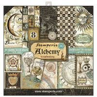 Stamperia 12x12 Paper Pad - Alchemy (10 Double Sided Sheets)