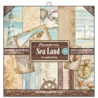 Stamperia 12x12 Paper Pad - Sea Land (10 Double Sided Sheets)