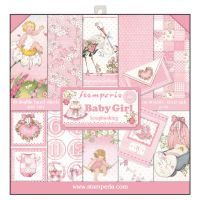 Stamperia 12x12 Paper Pad - Baby Girl (10 Double Sided Sheets)