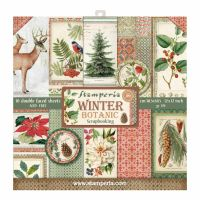 Stamperia 12x12 Paper Pad - Winter Botanic (10 Double Sided Sheets)
