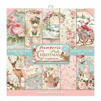 Stamperia 12x12 Paper Pad - Pink Christmas (10 Double Sided Sheets)