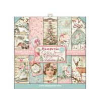 Stamperia 8x8 Paper Pad - Sweet Christmas (22 Double Sided Sheets)