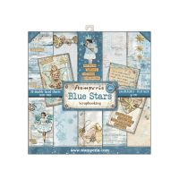 Stamperia 8x8 Paper Pad - Blue Stars (22 Double Sided Sheets)