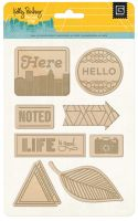 Basic Grey Second City Laser Wood Stickers