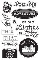 Basic Grey Second City Bright Lights Cling Stamp