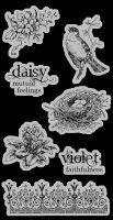 Graphic 45 Secret Garden Cling Stamps 3