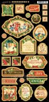 Graphic 45 St Nicholas Decorative Chipboard