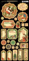 Graphic 45 St Nicholas Journaling Chipboard