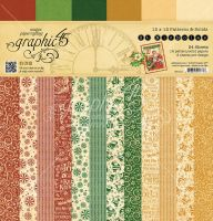 Graphic 45 St Nicholas 12x12 Patterns & Solids Pad