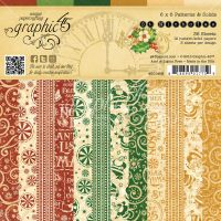 Graphic 45 St Nicholas 6x6 Patterns & Solids Pad