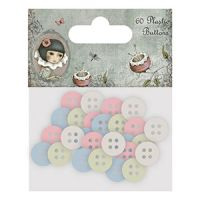 Santoro London Mirabelle 2 Plastic Buttons