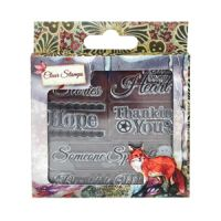 Santoro London Willow Clear Stamp - Sentiment