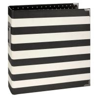Simple Stories SN@P! 6x8 Designer Binder  - Black Stripe