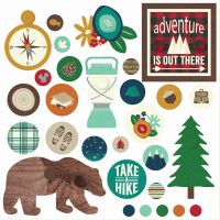 Simple Stories Cabin Fever Decorative Brads