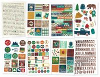 Simple Stories Cabin Fever 4x6 Stickers
