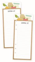 Simple Stories Carpe Diem - Recipe Shopping List Bookmark Tablet
