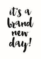 Simple Stories Carpe Diem Planner Essentials Brand New Day Black Planner Decal
