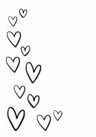 Simple Stories Carpe Diem Planner Essentials Floating Hearts Black Planner Decal