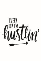 Simple Stories Carpe Diem Planner Essentials I'm Hustlin' Black Planner Decal