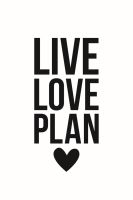 Simple Stories Carpe Diem Planner Essentials Live Love Plan Black Planner Decal