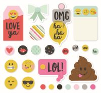 Simple Stories Emoji Love Decorative Brads