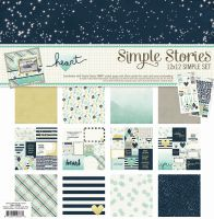 Simple Stories Simple Set -- Heart (6) 12x12 sheets, (2) 6x12 stickers