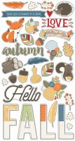 Simple Stories Hello Fall 6x12 Chipboard