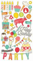 Simple Stories Let's Party 6x12 Chipboard