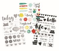 Simple Stories Life in Color Clear Stickers