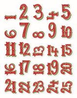 Simple Stories Very Merry Pocket Pieces - Numbers