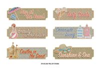 FabScraps Summer Loving Stickers - Beach Words